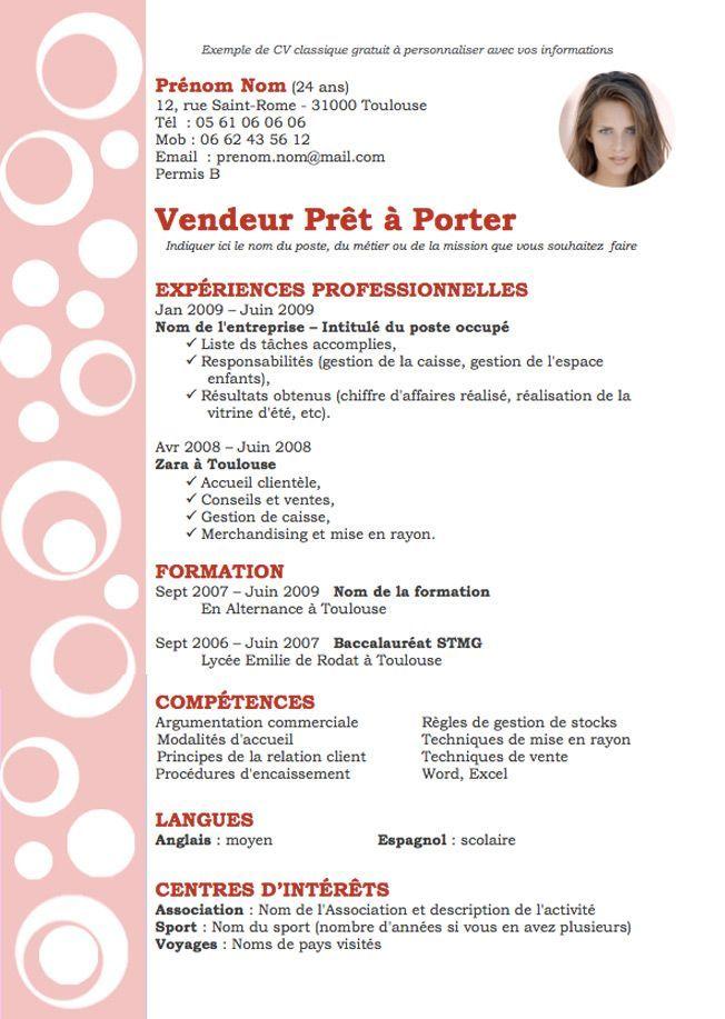 Curriculum Vitae Zara Modelo De Curriculum Vitae In 2020