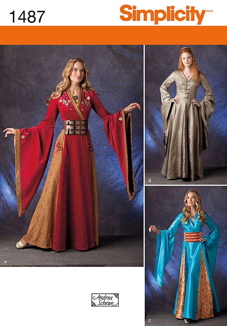 Simplicity 1487 - Dress like an elegant European maiden from High ...