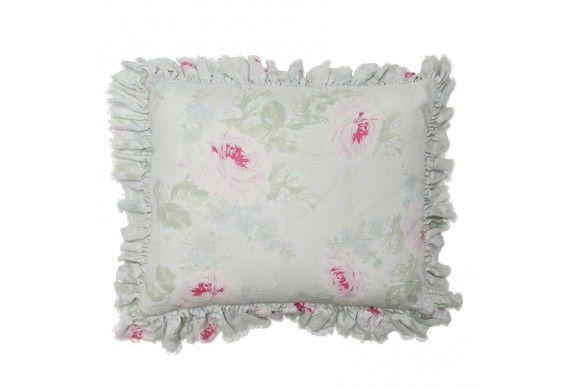 Royal Bouquet Overdyed Ruffle Pillow