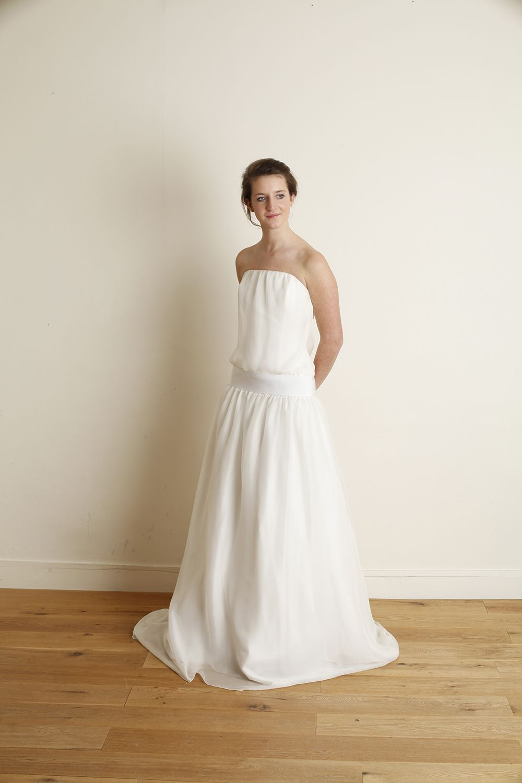 robe dolly robe de mari e en mousseline de soie et