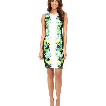 Calvin Klein Sheath Dress w/ Floral Print from 6pm.com