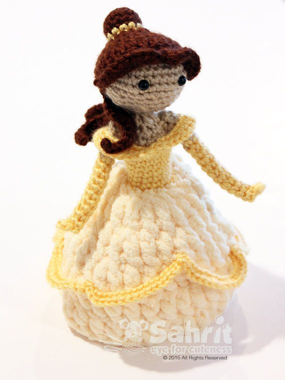 PATTERN Instant Download TALL Belle Beauty and the Beast Crochet ...