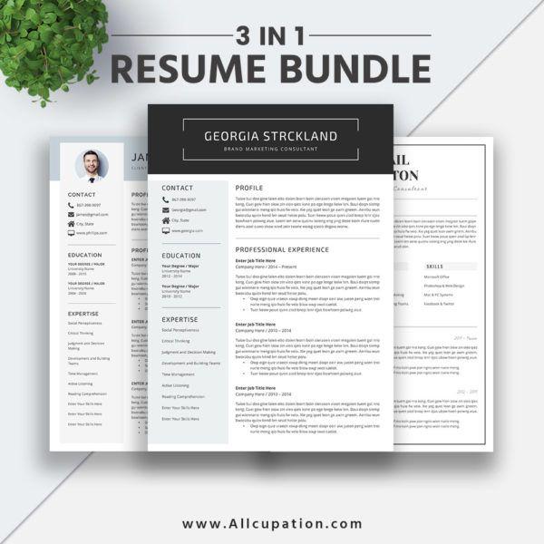Best-selling Resume Bundle The Georgia RB: Simple Resume