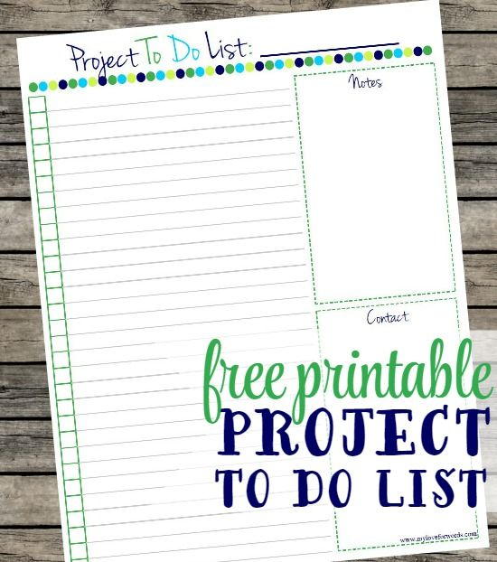 I Love This Free Printable Project To Do List! Itu0027s Perfect For Organizing  The Details