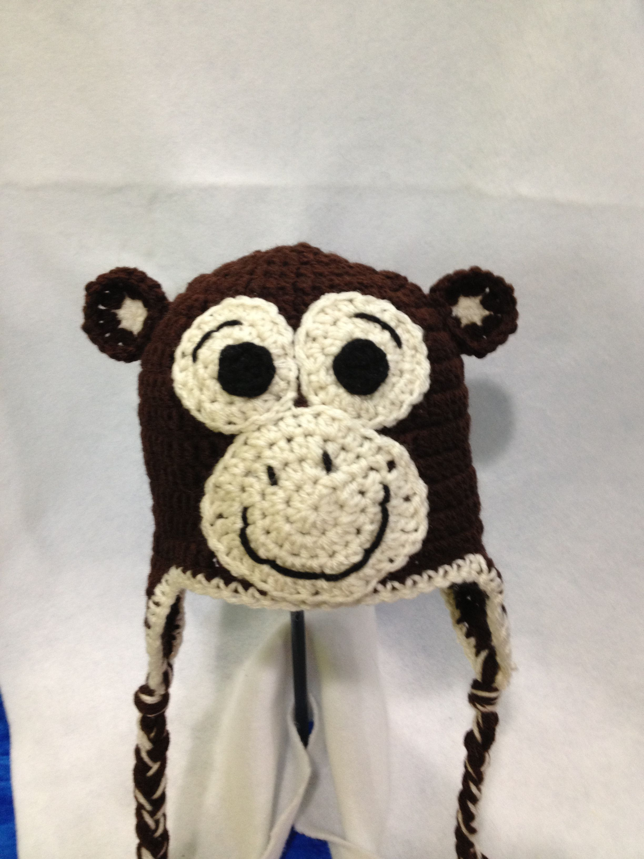 Monkey hat | Gorros | Pinterest | Gorros