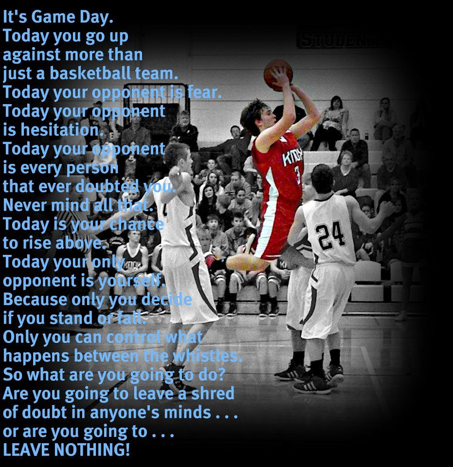 Motivational Quotes For Sports Teams: BASKETBALL - I Love This!!