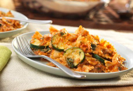 Zucchini Florentine Pasta Skillet
