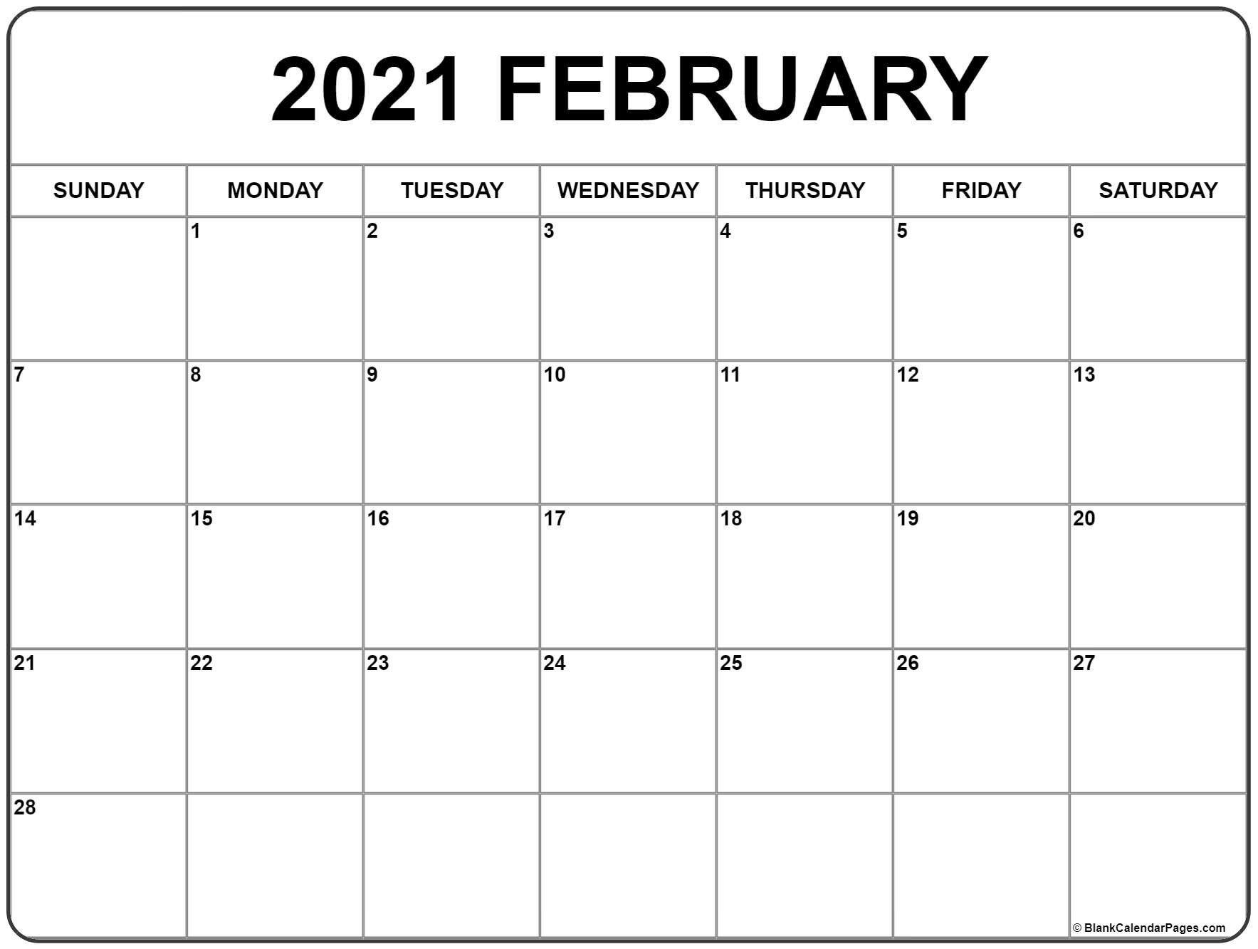 Cute February 2021 Calendar In 2020 Monthly Calendar Printable Calendar Printables Free Printable Calendar