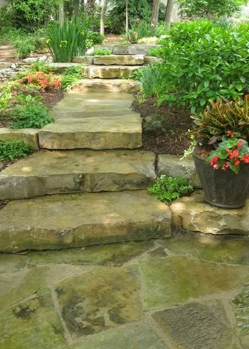Natural Creations Inc Stone Step Pathway Stepping Stone Pathway Garden Stairs Garden Stepping Stones