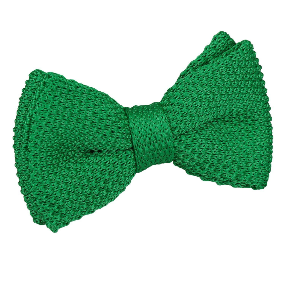 Forest Green Knitted Pre Tied Bow Tie For Boys Pre Tied Bow Tie Boys Bow Ties Knitted
