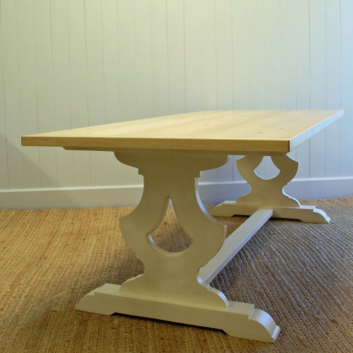 Shop Priage By Zinus Farmhouse Wood Dining Table: Gustavian Farm Dining Table In Two Sizes