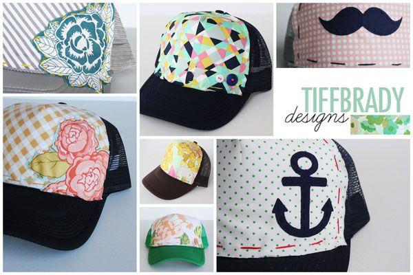 cc0d30b9d33 Creative inspiration for updoing a basic trucker hat. Super cute ...
