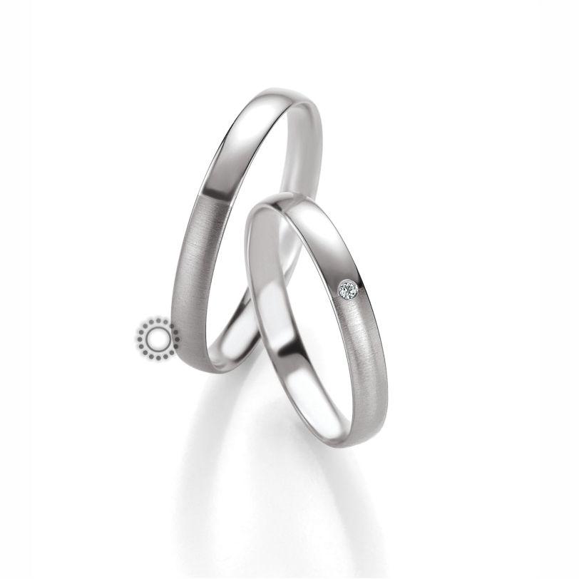 Βέρες γάμου BENZ 065   066 - Ένα διακριτικό σχέδιο από ανατομικές  λευκόχρυσες βέρες Benz με 6ca62e222a2