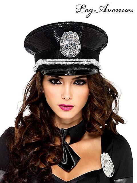 Adult Mens Ladies Police Cap Hat Fancy Uniform Dress Party Accessory Cop Hats