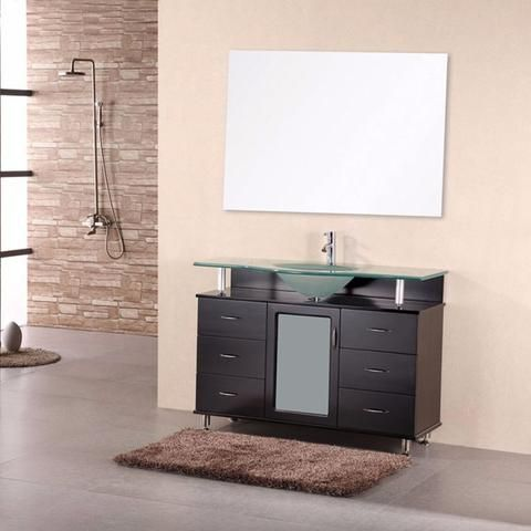 "Design Element 48"" Huntington Single Sink Vanity Set - DEC015C - Bath Vanity Plus"