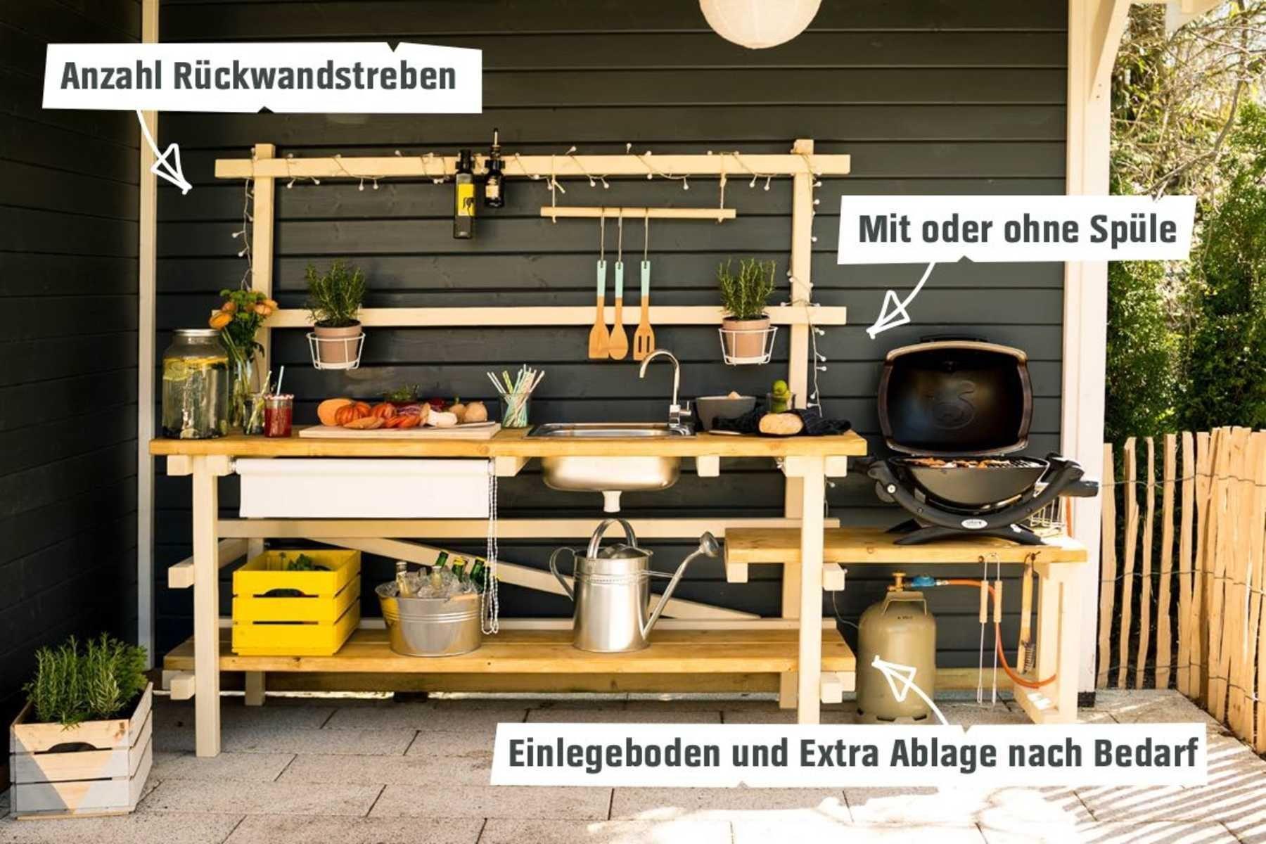 Außenküche selber bauen Alfons alle Möbel CREATE! von