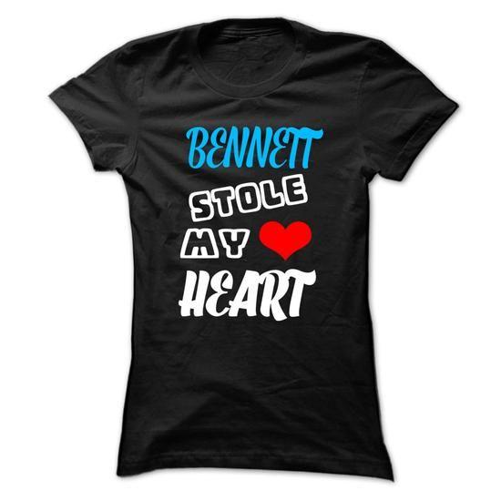 BENNETT Stole My Heart - 999 Cool Name Shirt ! - #housewarming gift #coworker gift. OBTAIN => https://www.sunfrog.com/Hunting/BENNETT-Stole-My-Heart--999-Cool-Name-Shirt-.html?68278