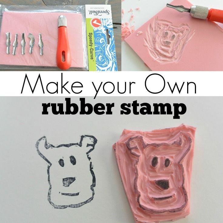 make your own stamp diy tutorial diy ideas pinterest craft