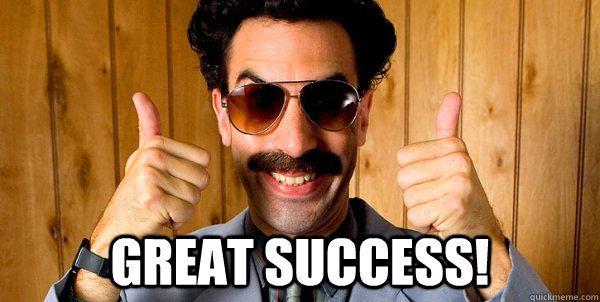 Ranks In Top 100 For Social Presence Borat Great Success Borat