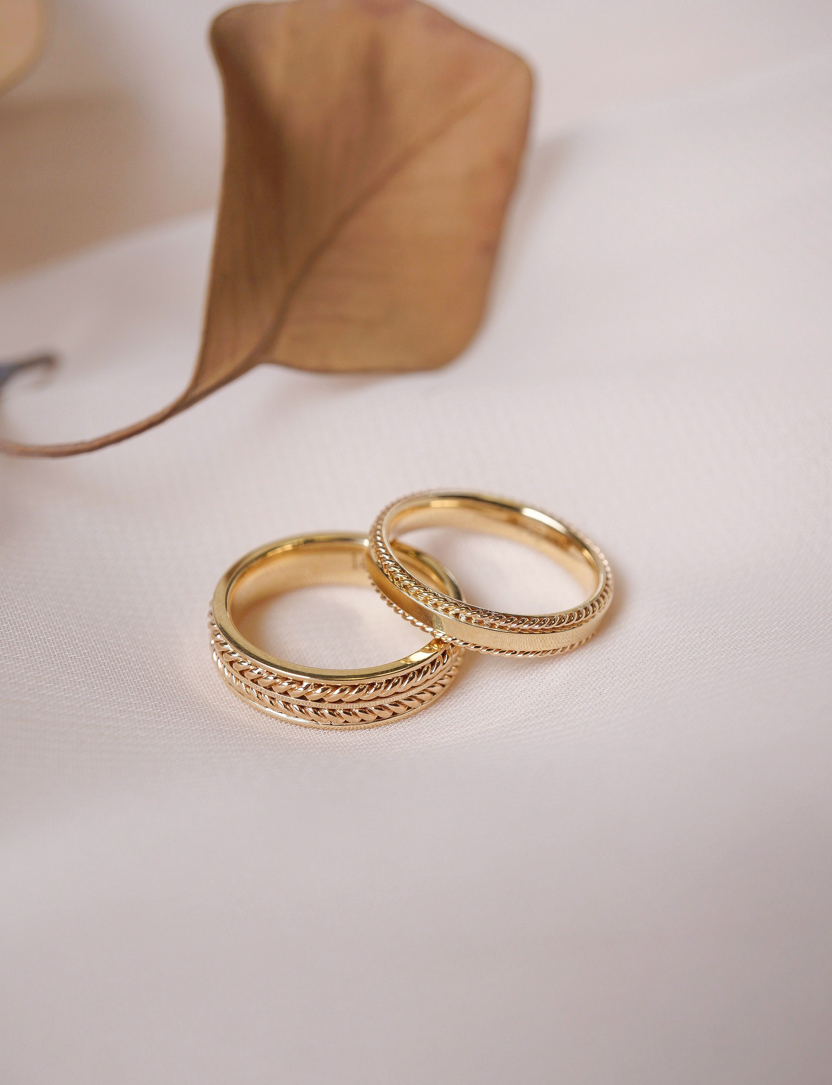 Pattern Band 14K White Gold Wedding Band Art Deco Wedding Band Solid Gold Dainty Wedding Ring 18k White Gold Ring Unique Wedding Ring