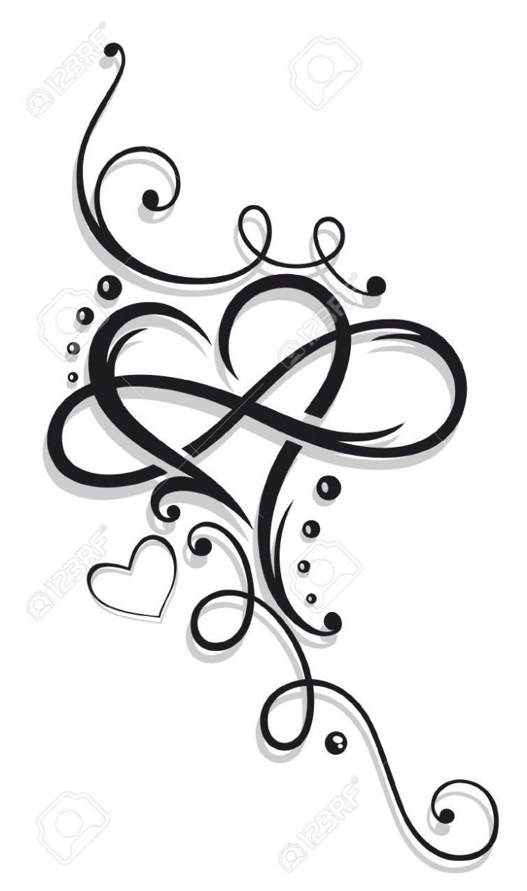 Image Result For Tatuaje Corazon Infinito Tattoos With Kids Names Tattoos For Daughters Infinity Tattoos