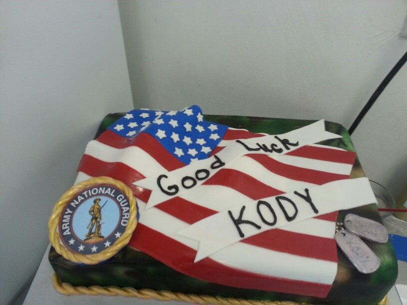 Army National Guard Cake With Images Patriotic Cake Army Cake