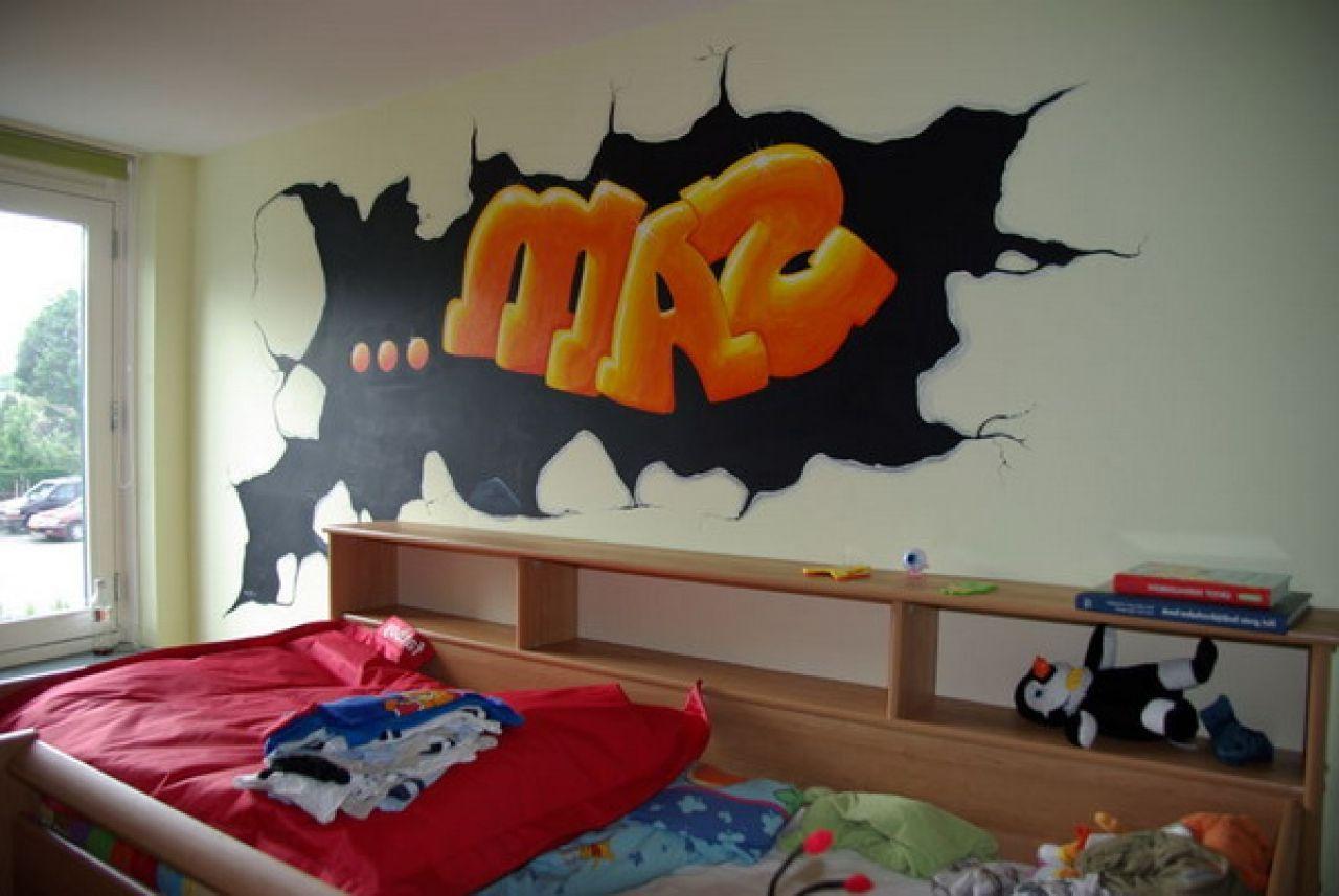 Graffiti Wallpaper For Boys Bedroom