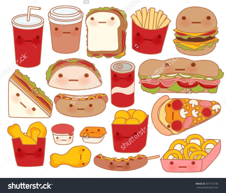 Kawaii Food Sticker