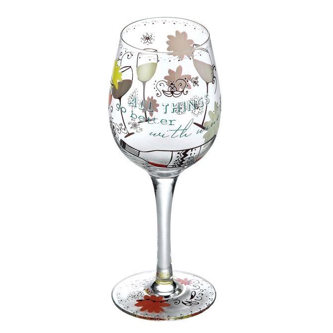 Wine Glasses - Better with Wine Wine Glass: Glassware Gifts A26536 #FineGifts #WineGlassGlasswareGifts