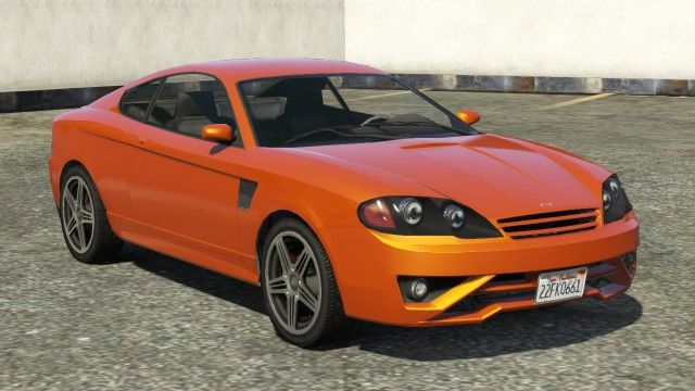 Orange Bollokan Prairie Gta 5 Front View Gta 5 Compact Cars