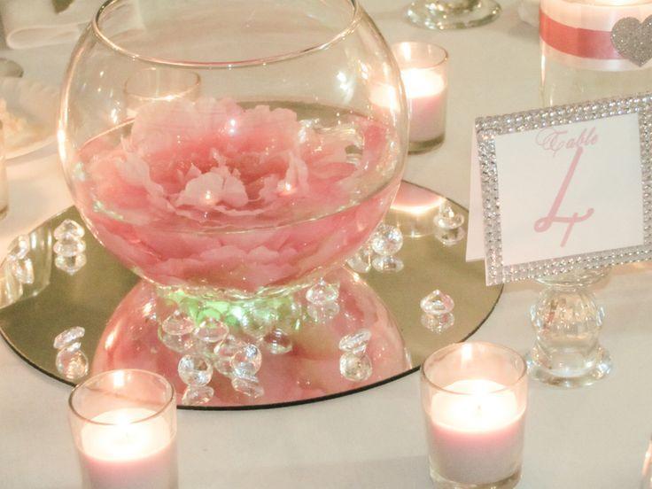 Craft Glass Mirrors Wedding Centerpieces Diy Wedding