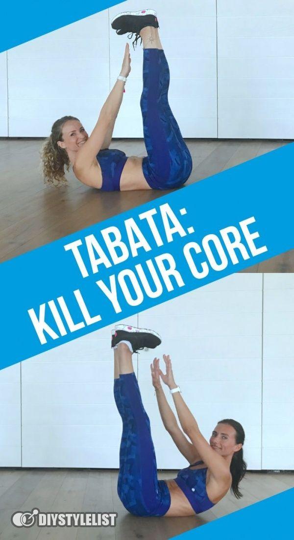 """Tabata-Workout: 4 Minuten """"Kill Your Core"""".  Du mchtest einen flachen Bauch und einen starken Core?..."""