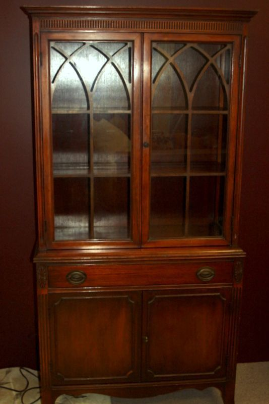 Image Detail For Vintage China Cabinet Federal Period