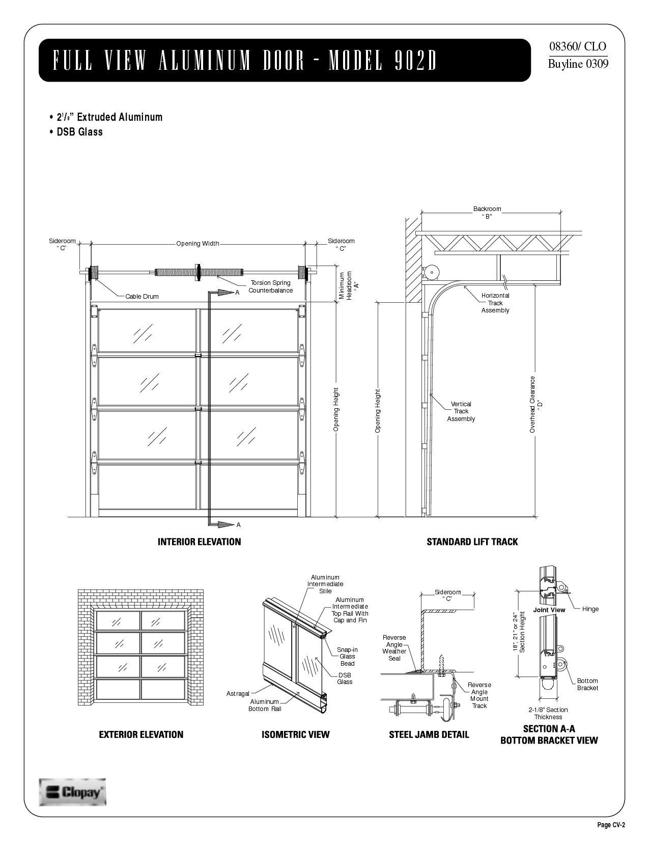 Single car garage door opening size for inspire voteno