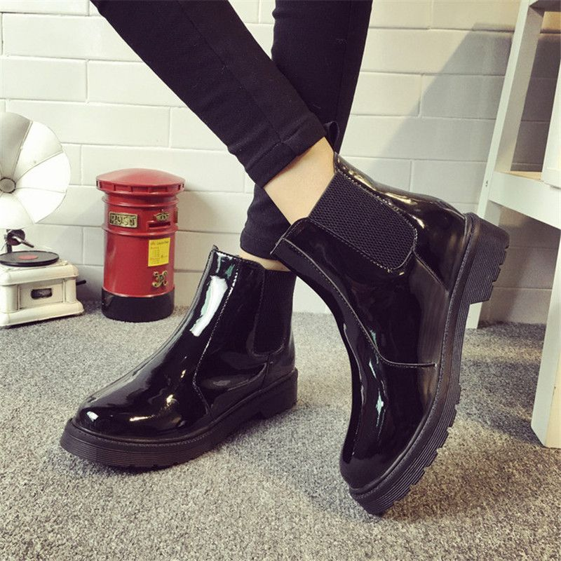 brand plus size 40 women ankle boots flat heels casual shoes woman