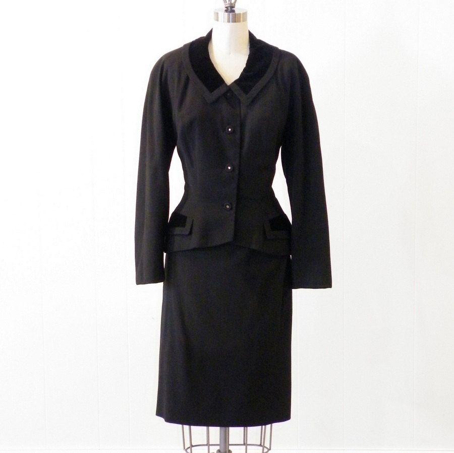 1950s Suit  Vintage 50s Womens Skirt Suit  Fit