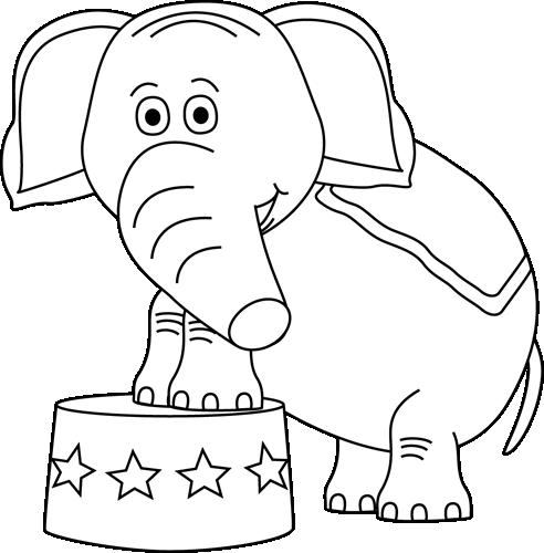 Circus Elephant Black White Elephant Clip Art Elephant Images Elephant Black And White