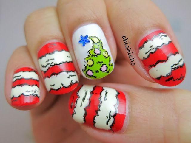 Grinch Christmas Nails Christmas Nails Pinterest Grinch