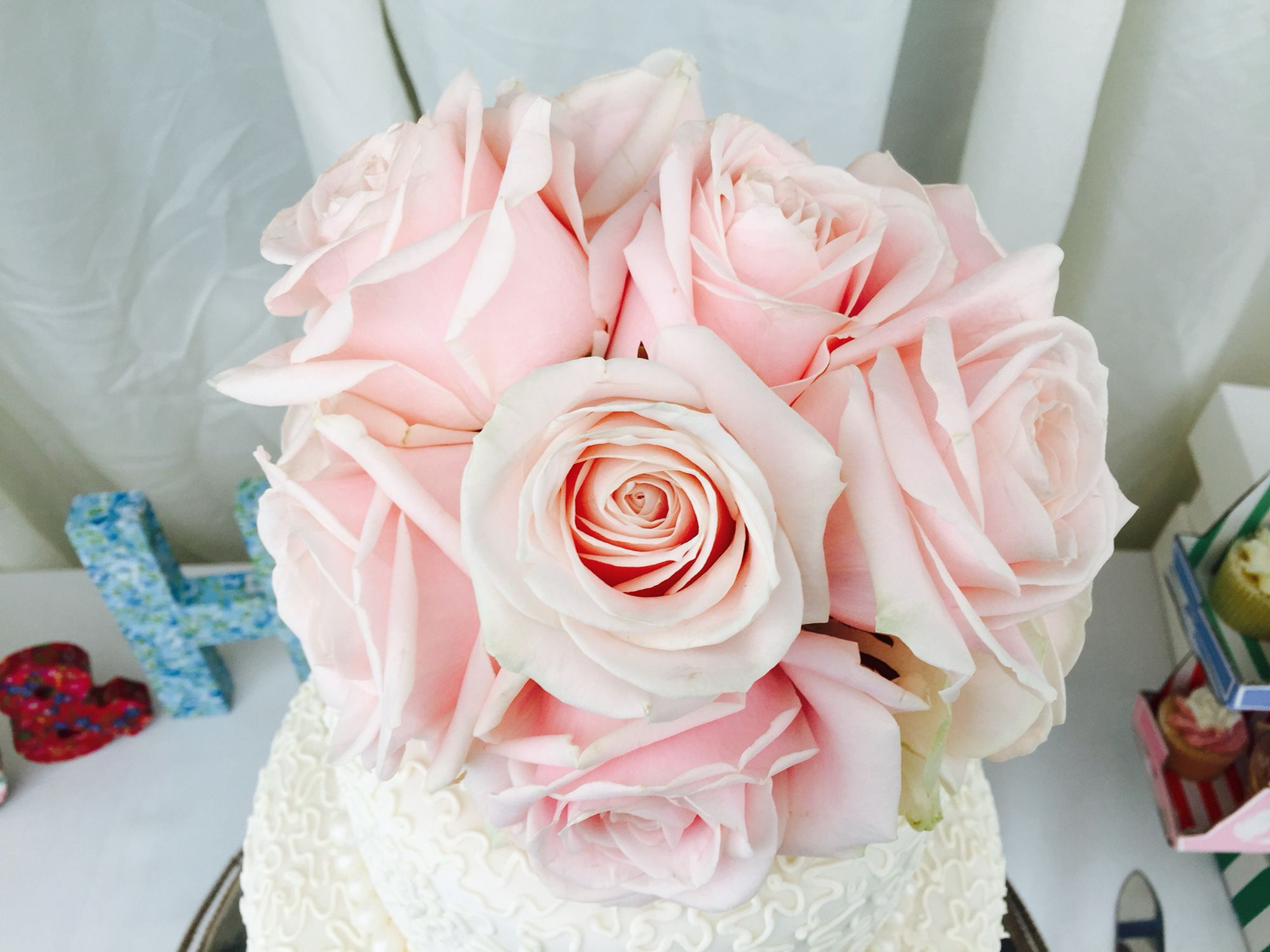 Wedding of Sam and Henry 18 April 2015 #weddingcake #freshflowers ...