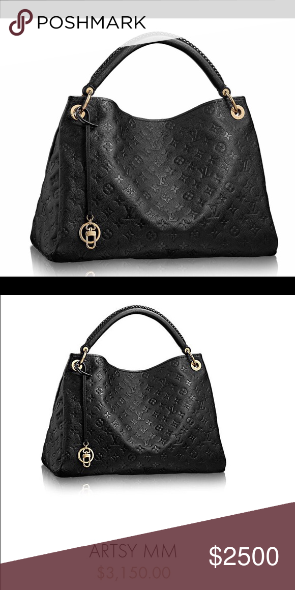 24b233fe53f8 Spotted while shopping on Poshmark  Louis Vuitton Artsy MM bag ~ tote.  Black!  poshmark  fashion  shopping  style  Louis Vuitton  Handbags