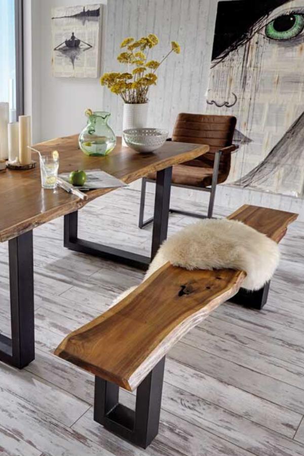 Esszimmer Sitzgruppe Escoba im Loft Design mit Baumkante