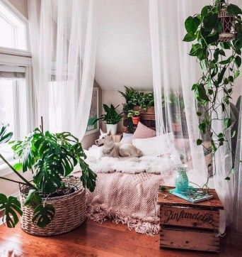 30+ Creative Bohemian Bedroom Decor Ideas images