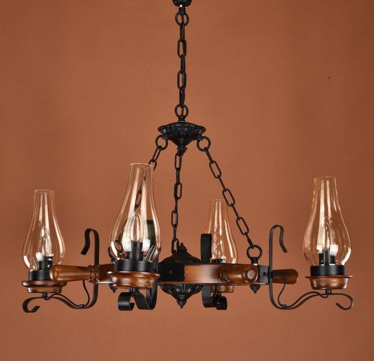Multiple pendant light Rudder wrought iron light living room lights restaurant lamp american bar dining lamp ZX58 #Affiliate