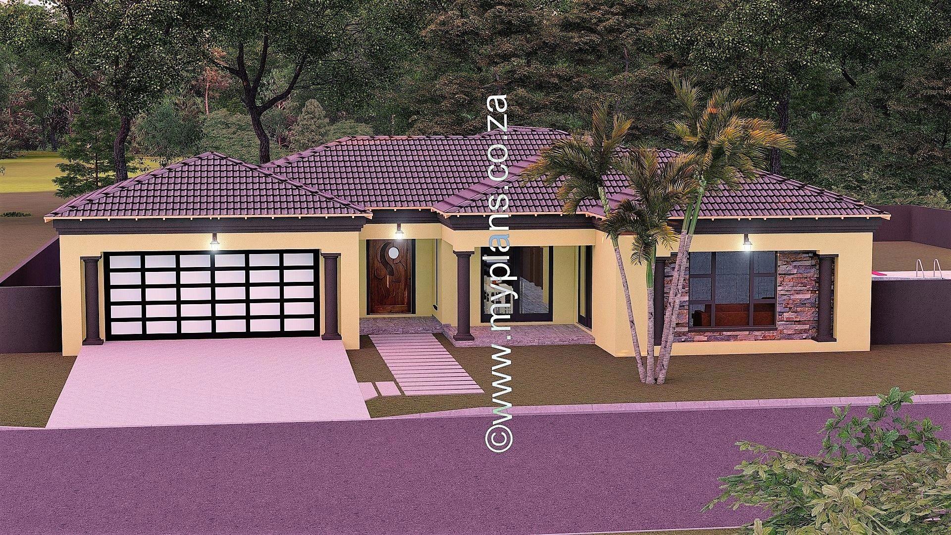 This Tuscan Designed Single Storey 4 Bedroom House Plan Mlb 025s Boasting Full Master Suite Inc House Plans South Africa Bedroom House Plans Tuscan House Plans