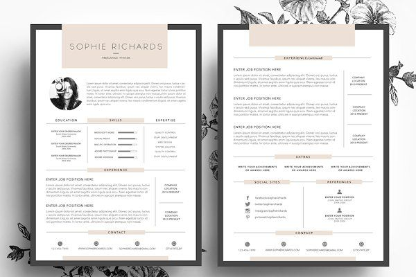 Business Resumes Template Resume Template  Business Card  Cv  Pinterest  Business Cards