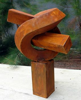Sculpture Knot Made From Corten Steel | Art Inspiration | Pinterest |  Corten Steel, Curves And Steel