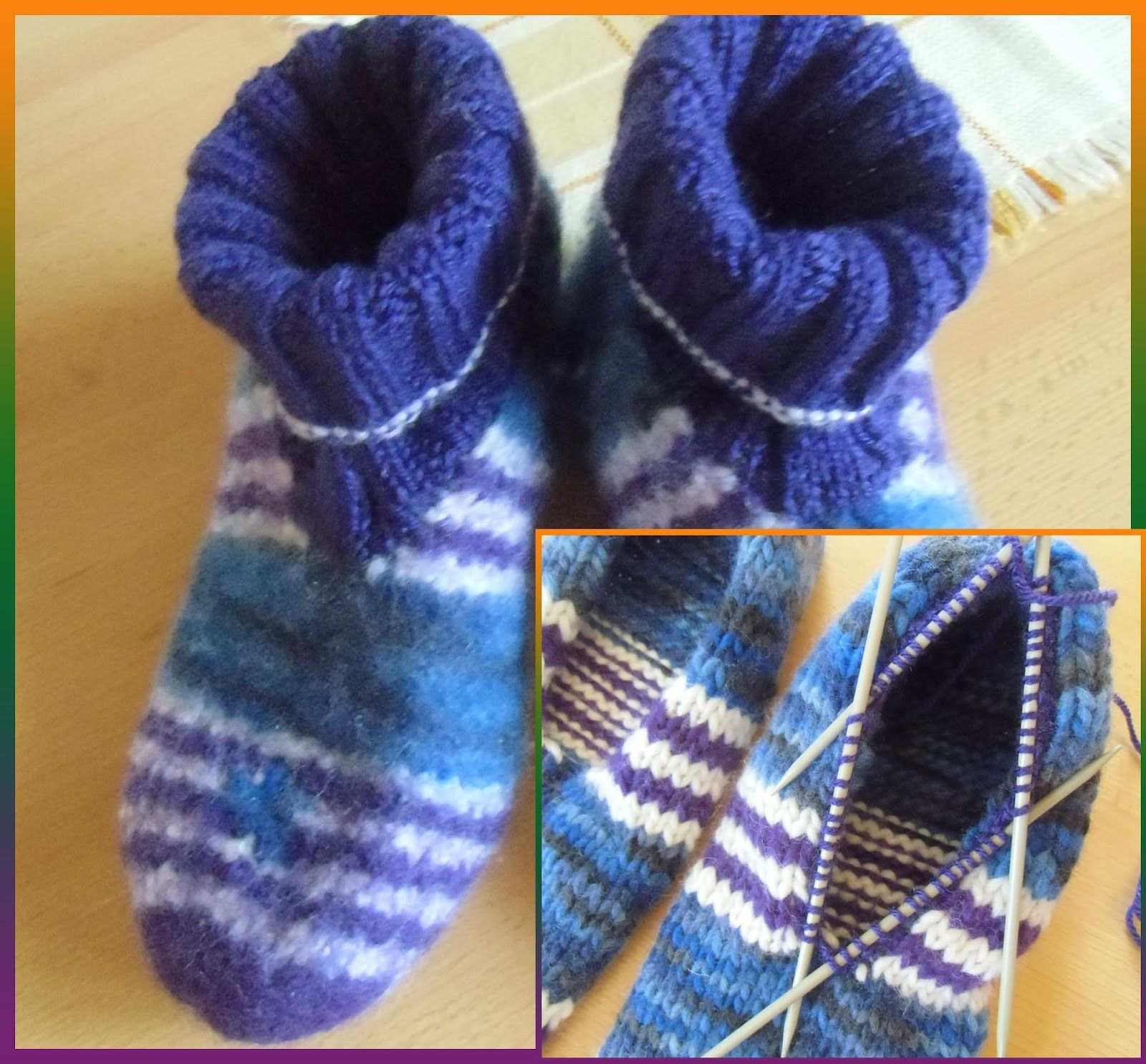 Photo of Silvis wool sofa: felt – slippers, knitting and felting with shaft and cuffs