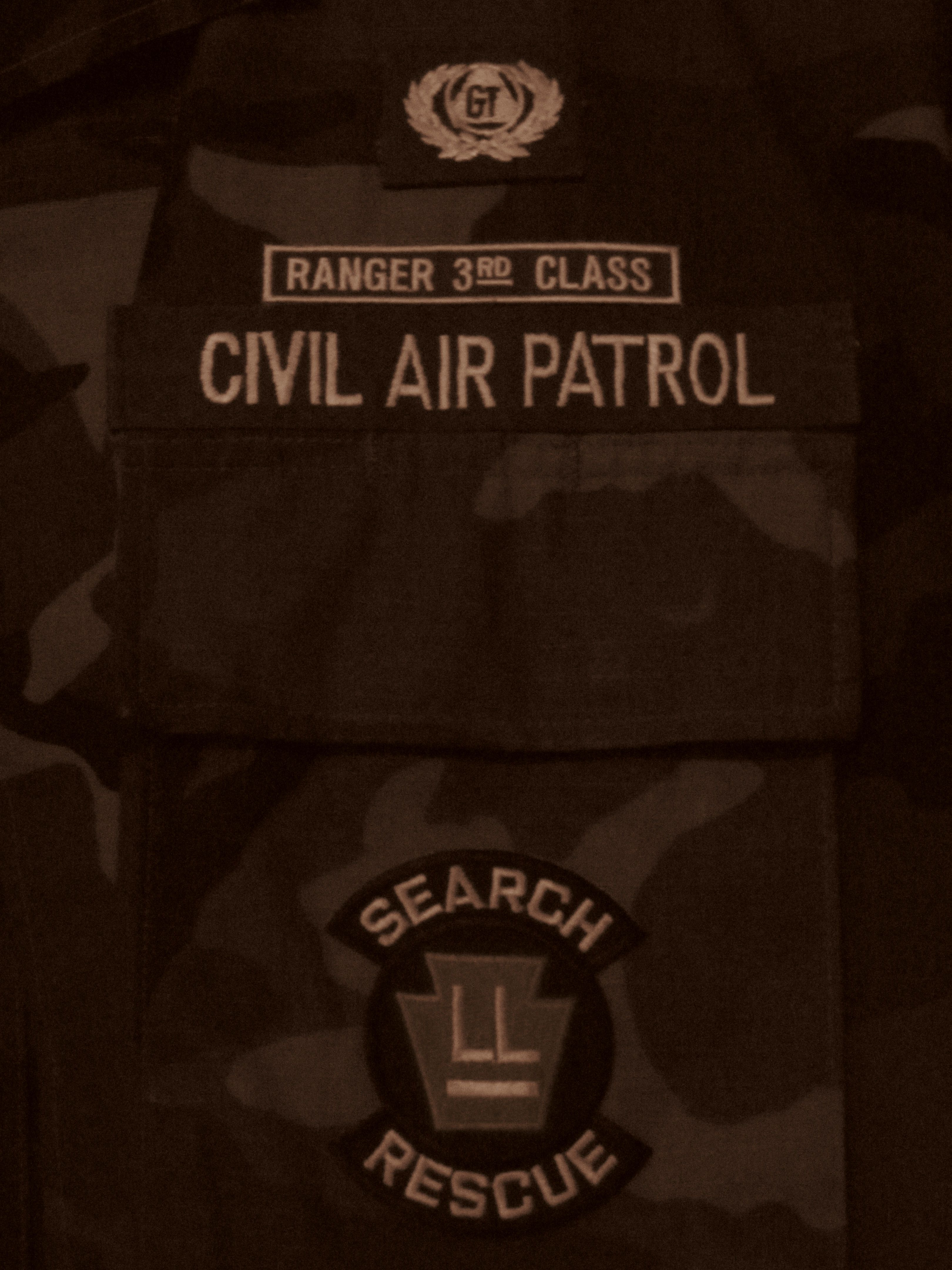 Civil Air Patrol battle dress uniform with Hawk Mountain