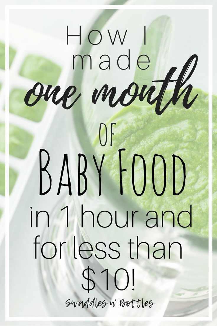 How to Make One Month of Baby Food in One Hour and for Less Than $10. Great way to save money... How to Make One Month of Baby Food in One Hour and for Less Than $10. Great way to save money on your little eater! Healthy, inexpensive way to feed your kiddo!,