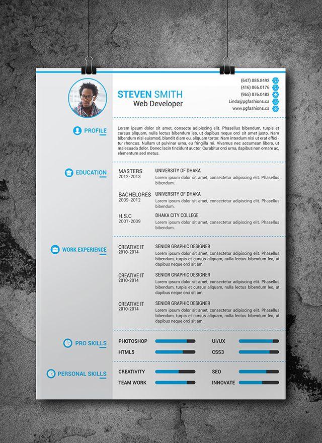 Free Resume Template / Plantilla Gratis de Currículum Vitae Resume - free resume design templates
